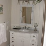 White Vanity and Mirror