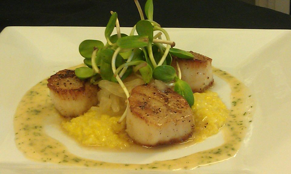 Summer Scallops, Fresh Corn Polenta, Pickled Vidalia Onions, Citrus ...