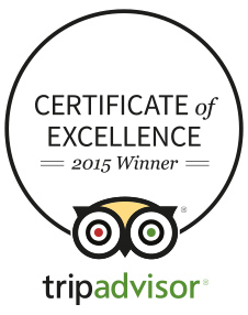 Trip Advisor 2015 Award of Excellence