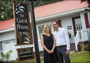 The Guest House at 1844 sign outside B&B