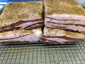 Post Cure-Pepper Crusted Bacon