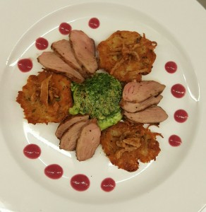 Maple Glazed Duck Breast Top View