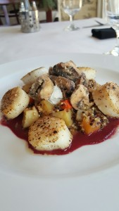 Seared Diver Scallops with Ancient Grain Risotto