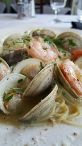 Virginia Little Neck Clams and Shrimp