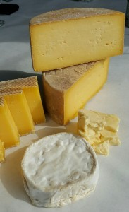A selection of cheeses from North Country Creamery