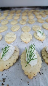Pecan Wood Smoked Trout Mousse on a Soda Cracker